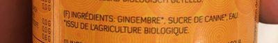 Ginger Syrup - Ingrédients - fr