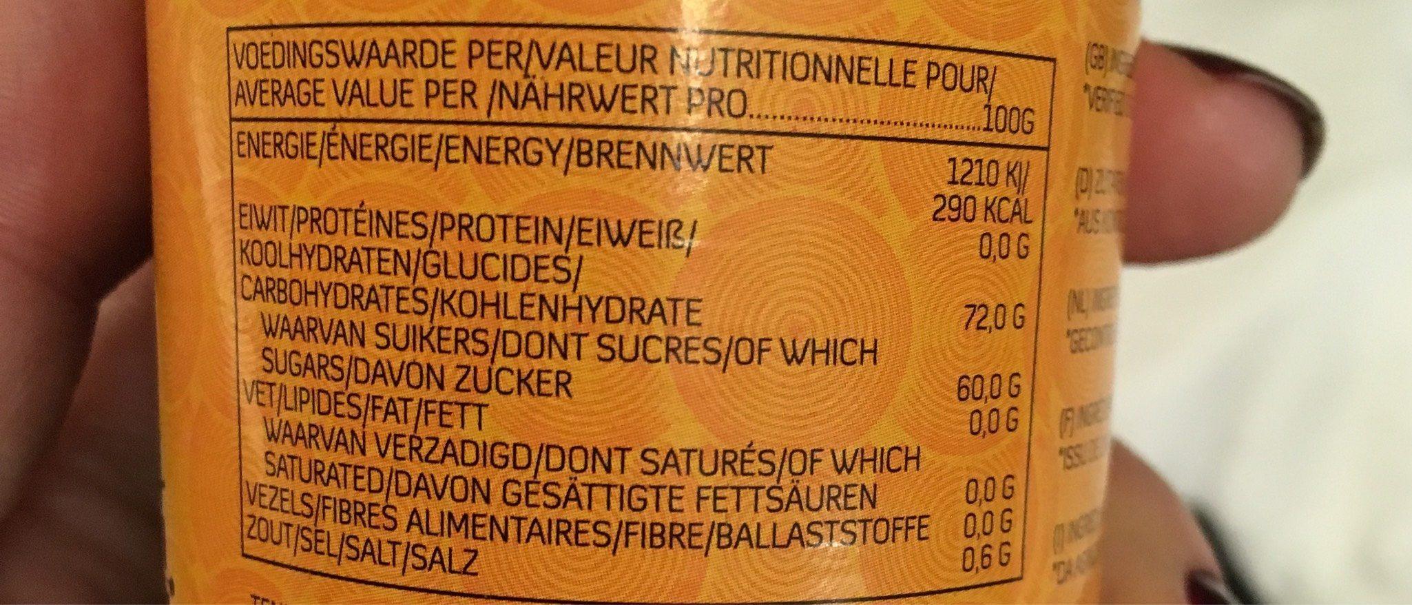 Ginger Syrup - Informations nutritionnelles - fr
