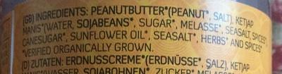 Yakso Sateh Sauce - Ingredients - en