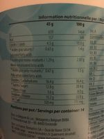 NutriInflam - Nutrition facts
