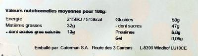 Ballotin de pralines Leonidas emballé - Informations nutritionnelles