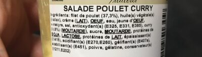 Salade poulet curry - Ingredients