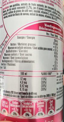 Tao energizer - Informations nutritionnelles
