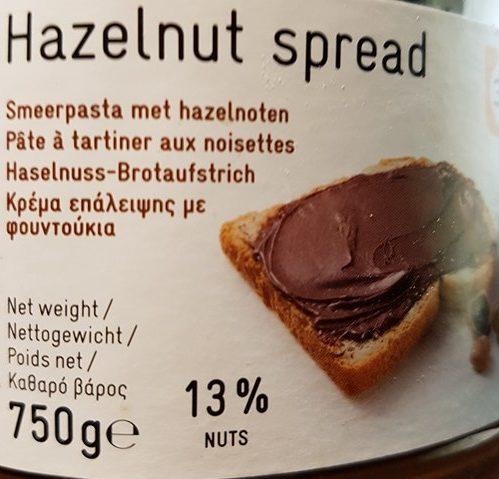 Pâte à tartiner aux noisettes - Prodotto - fr