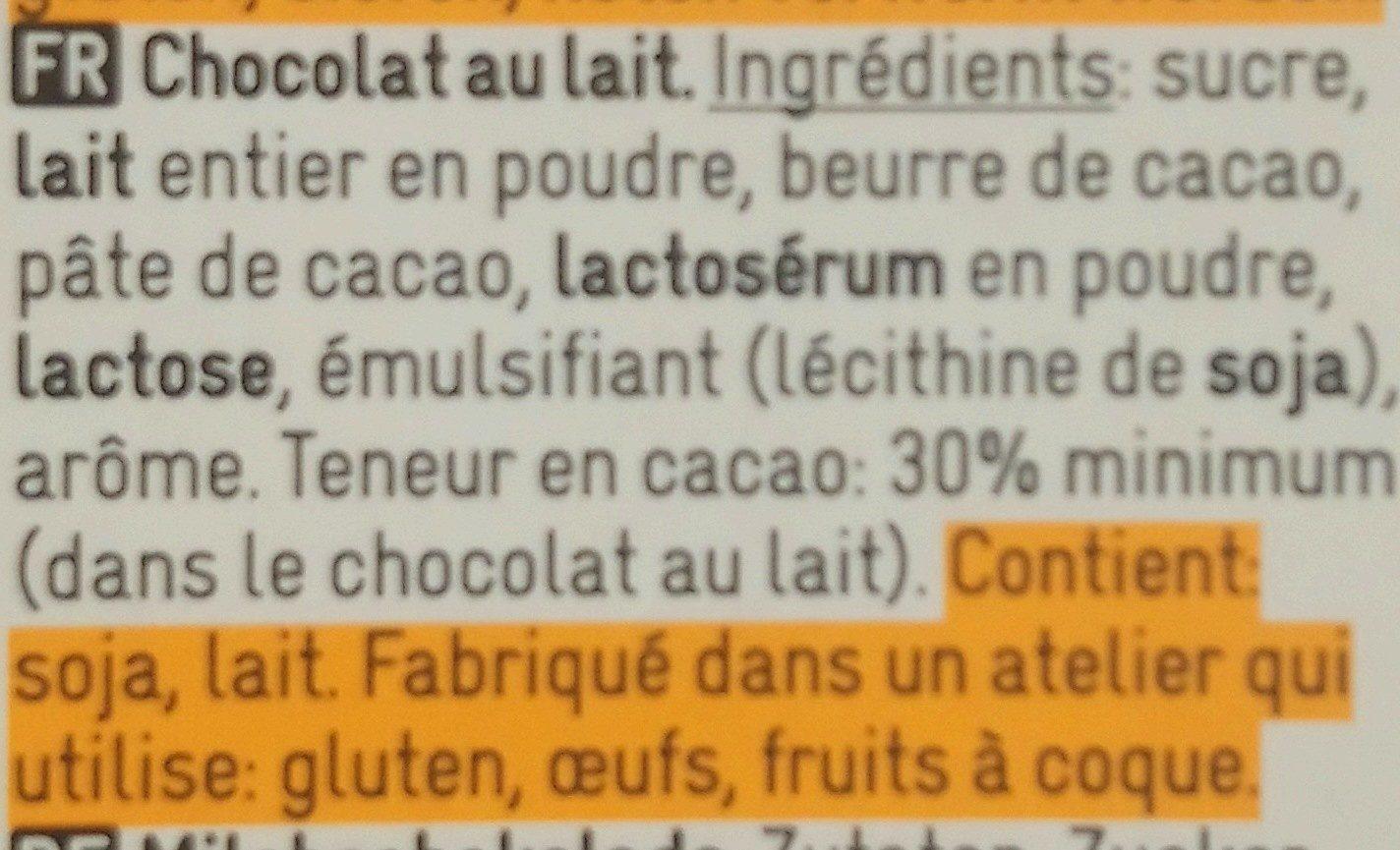Milk Chocolate au lait - Ingrediënten