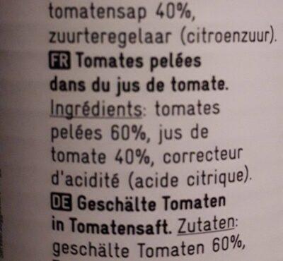 Tomates pelées - Ingrediënten - fr