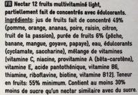 Nectar multivitaminé 12 fruits - Ингредиенты