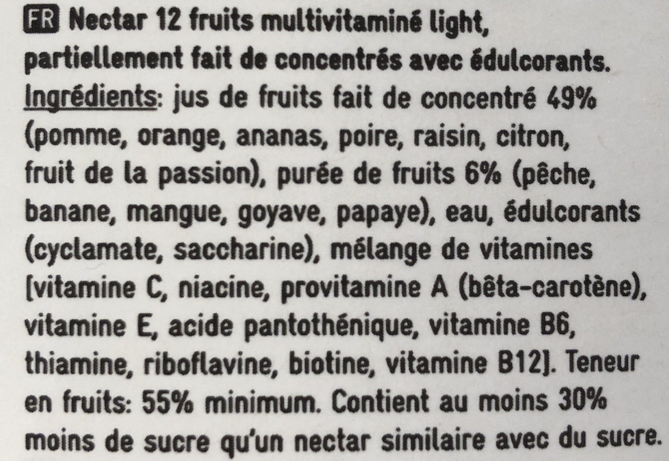 Nectar multivitaminé 12 fruits - Ingrediënten - fr