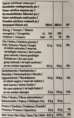Nectar multivitaminé 12 fruits - Voedingswaarden