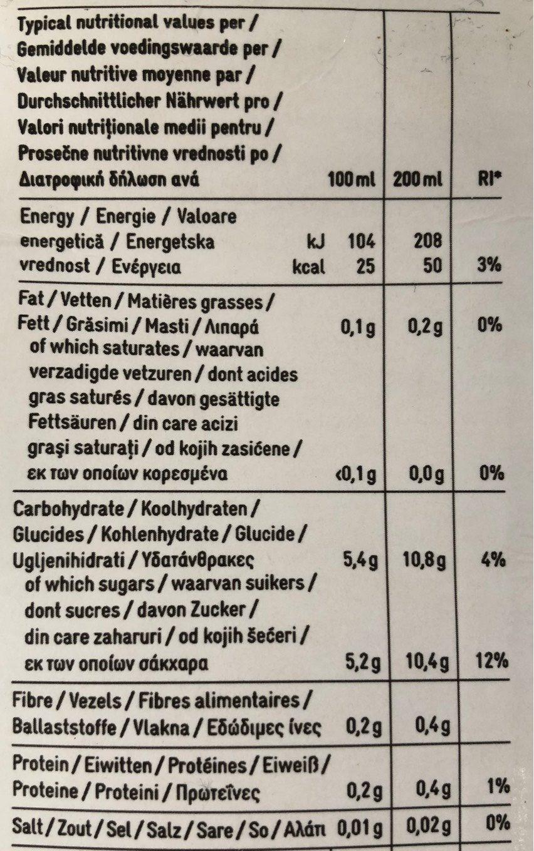 Nectar multivitaminé 12 fruits - Voedingswaarden - fr
