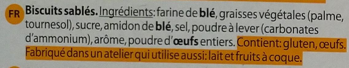 Sprits Shortbread Biscuits - Ingrédients - fr