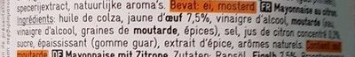 Mayonnaise au citron - Ingrediënten - fr