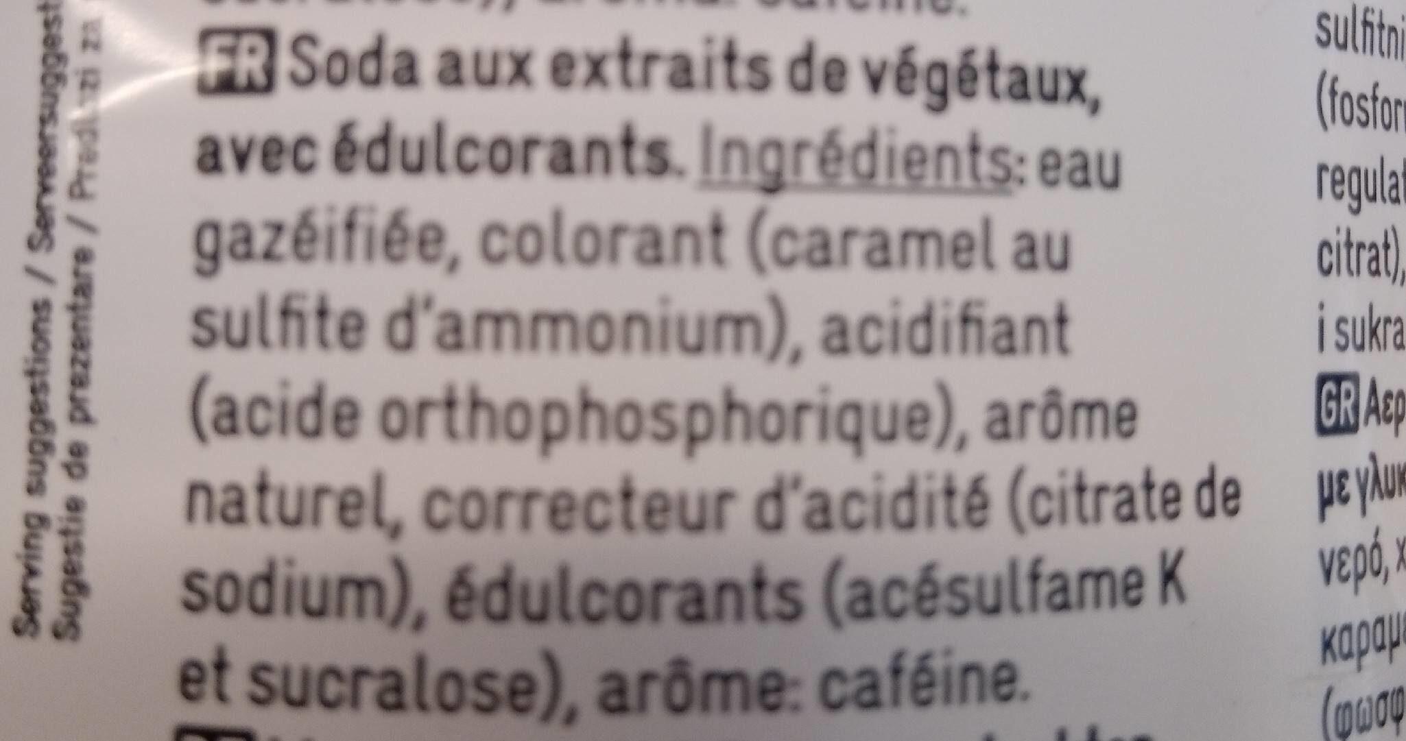 Cola zero Delhaize - Ingredienti - fr