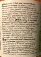 Jus 12 fruits multivitaminé - Ingrediënten - fr