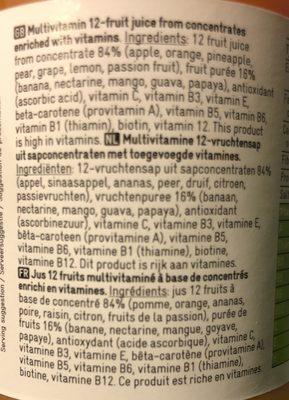 Multivitamin 12 fruits - Ingrediënten