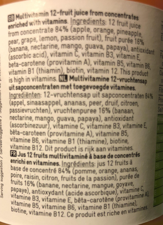 Jus 12 fruits multivitaminé - Ingrediënten