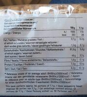 Sponge fingers - Voedingswaarden - fr