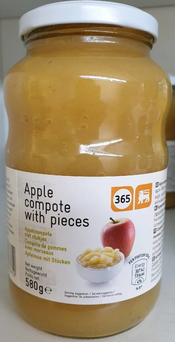 Apple compote with pieces - Product - fr