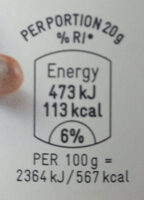 Hazelnut sprea - Voedingswaarden