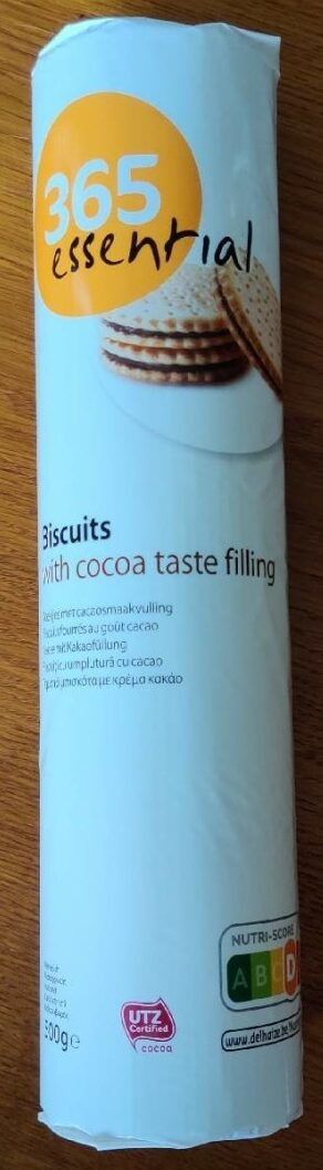 Biscuits with cocoa taste filling - Product - fr