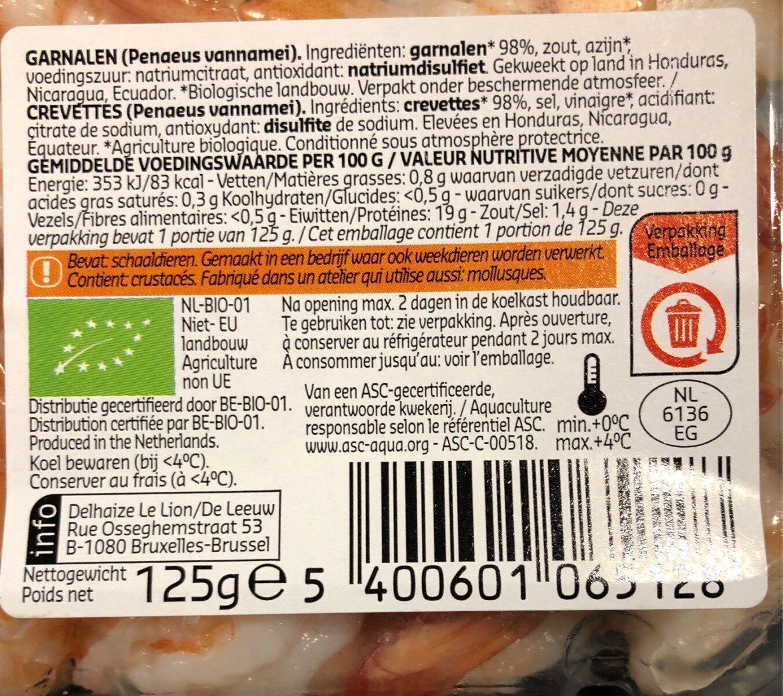 Scampis cuits avec queue - Voedingswaarden