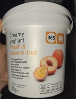 Cream yoghurt peach & passion fruit - Product - fr