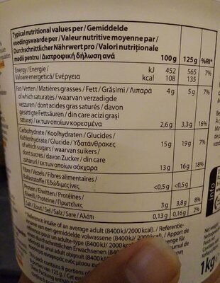 Cream yoghurt peach & passion fruit - Voedingswaarden - fr