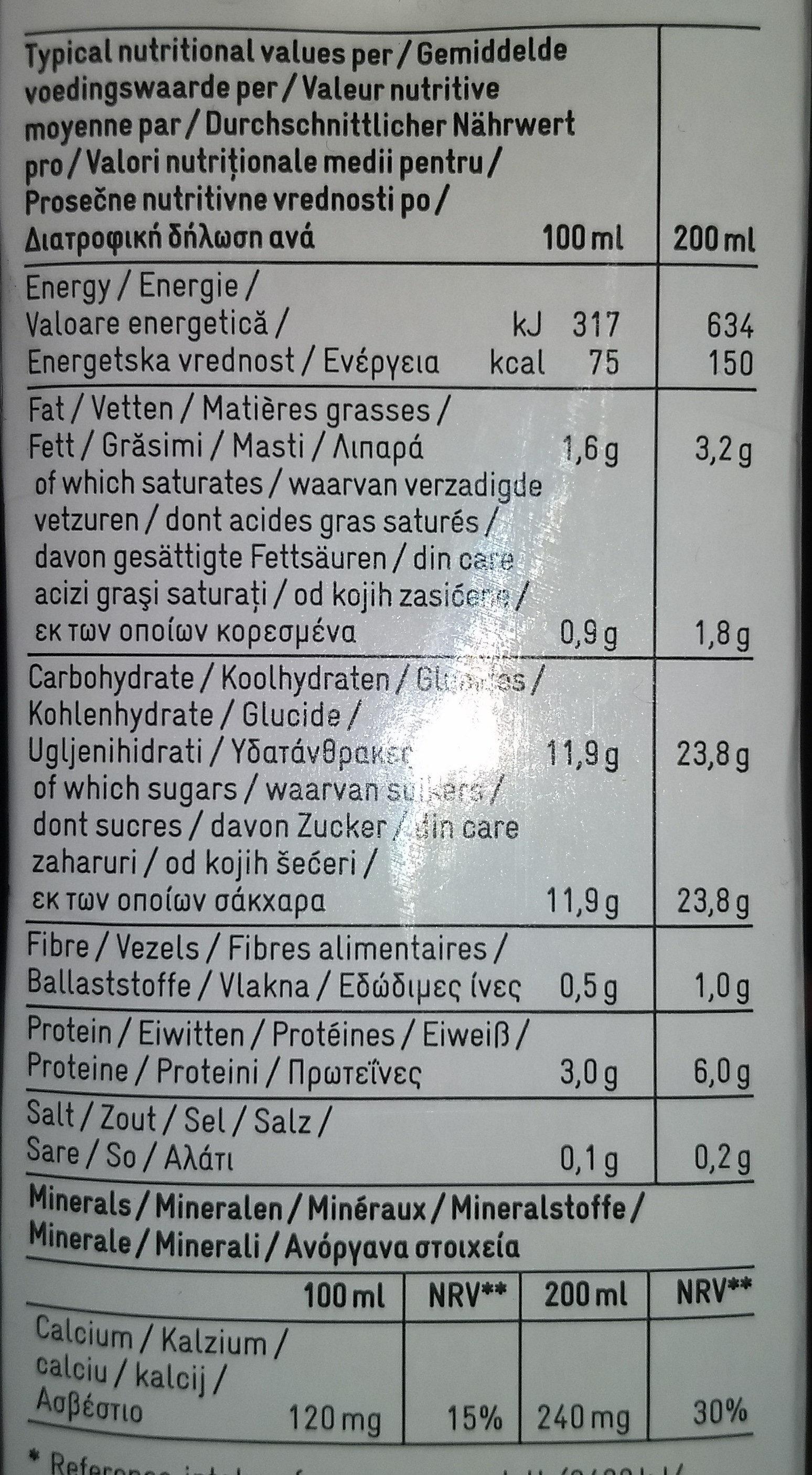 Cocoa milk - Voedingswaarden