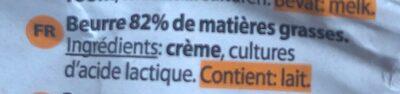 365 essential Butter - Ingrediënten - fr