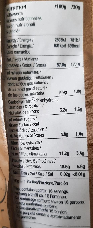 Mixed nuts - Información nutricional - fr