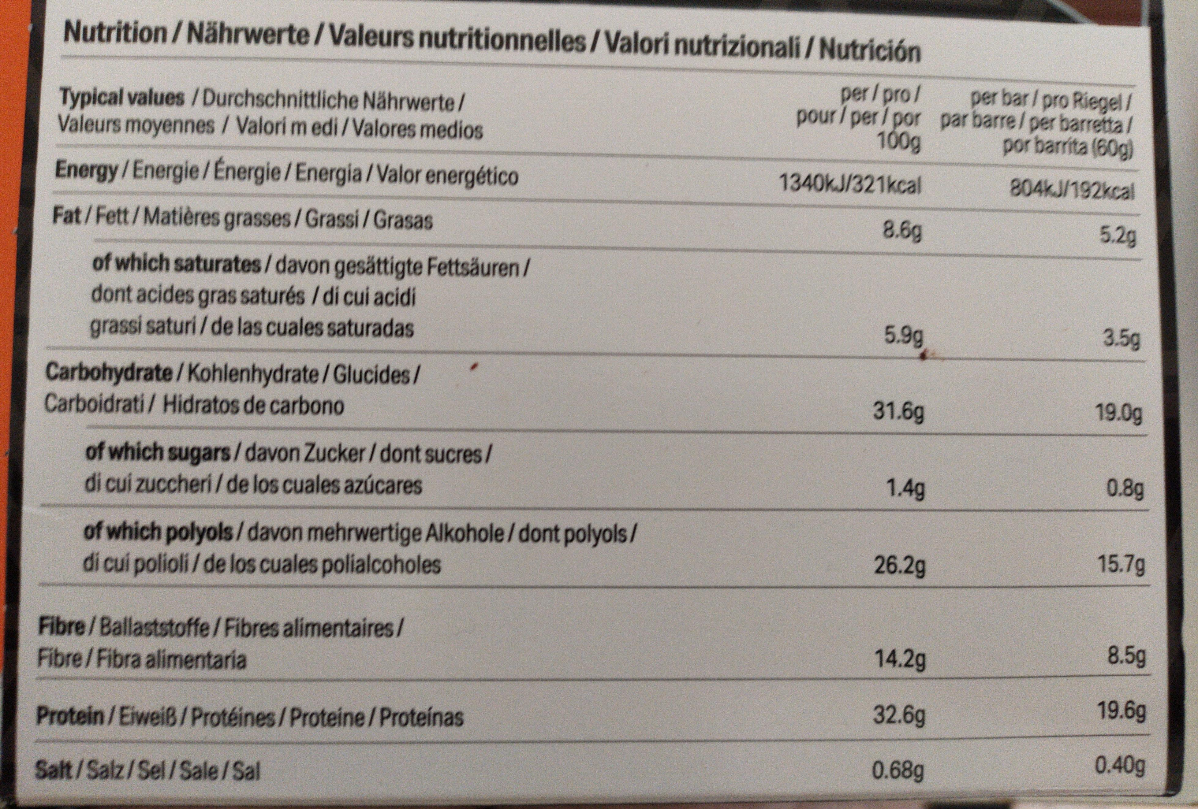 HIGH PROTEIN Chocolate Fudge Flavour Bars - Nährwertangaben - de