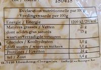 Mozzarella râpée - Informations nutritionnelles - fr