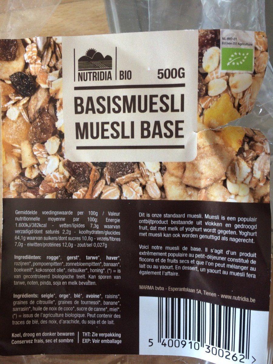 Muesli Base - Product - fr