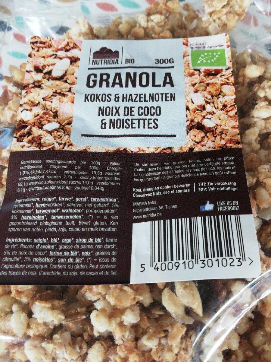 Granola noix de coco et noisettes - Product