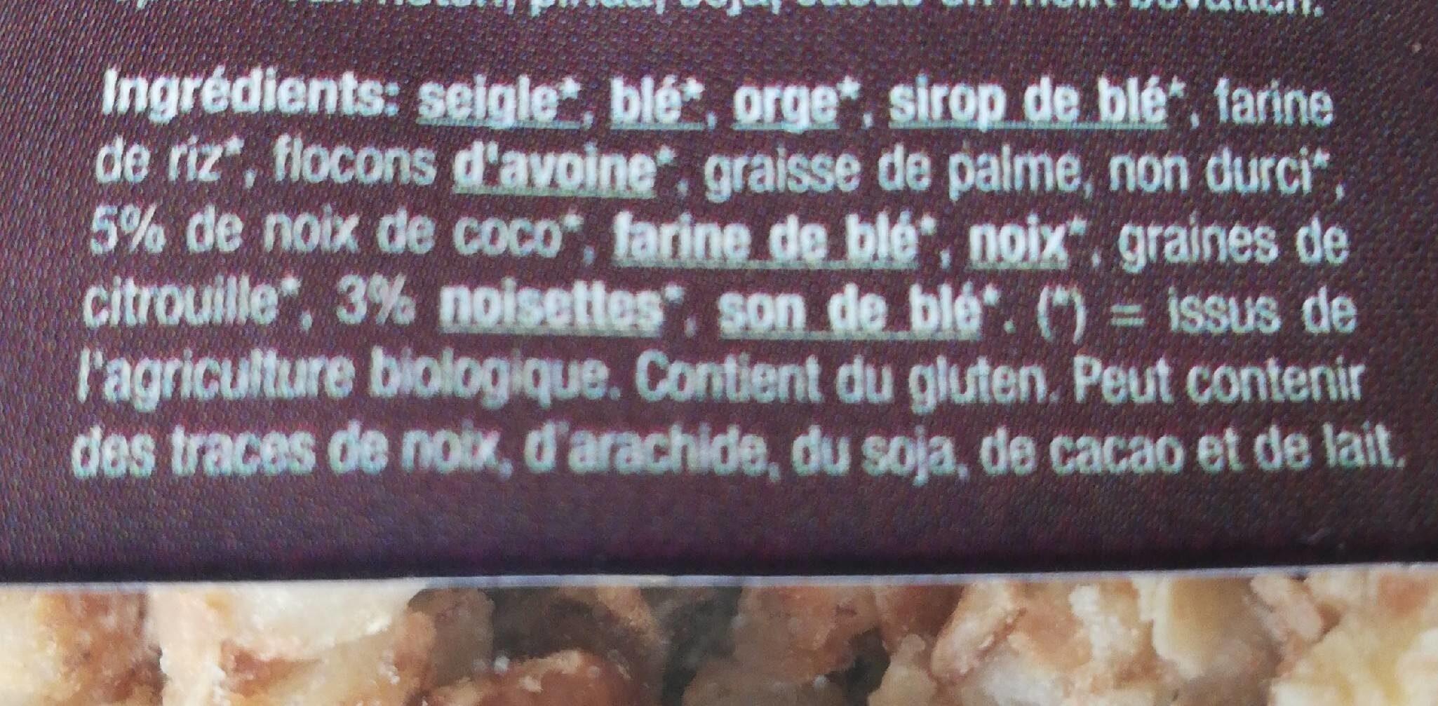 Granola noix de coco et noisettes - Nutrition facts