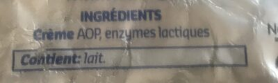 Beurre d'Ardenne Doux - Ingrediënten