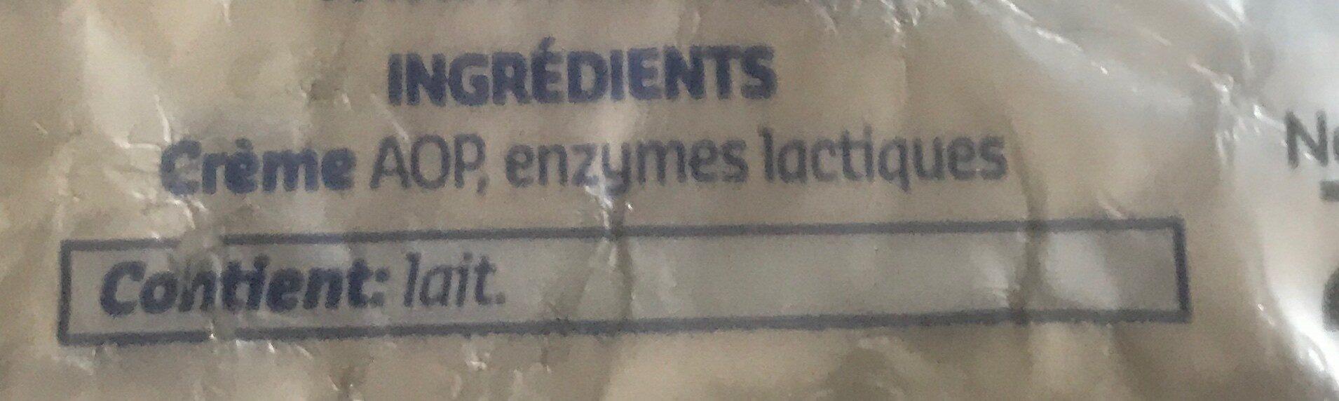 Beurre d'Ardenne Doux - Ingrediënten - fr