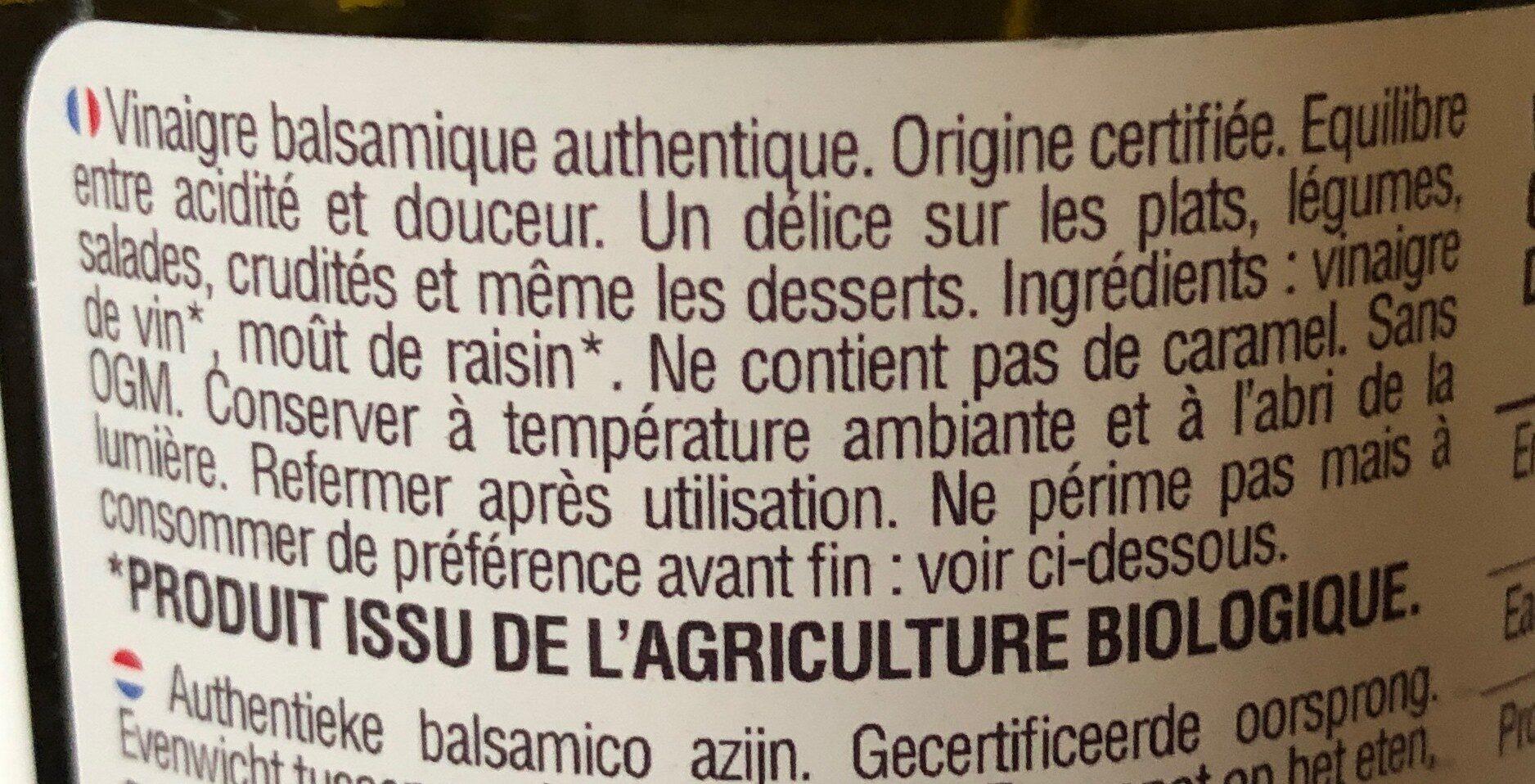 - Ingrédients - fr