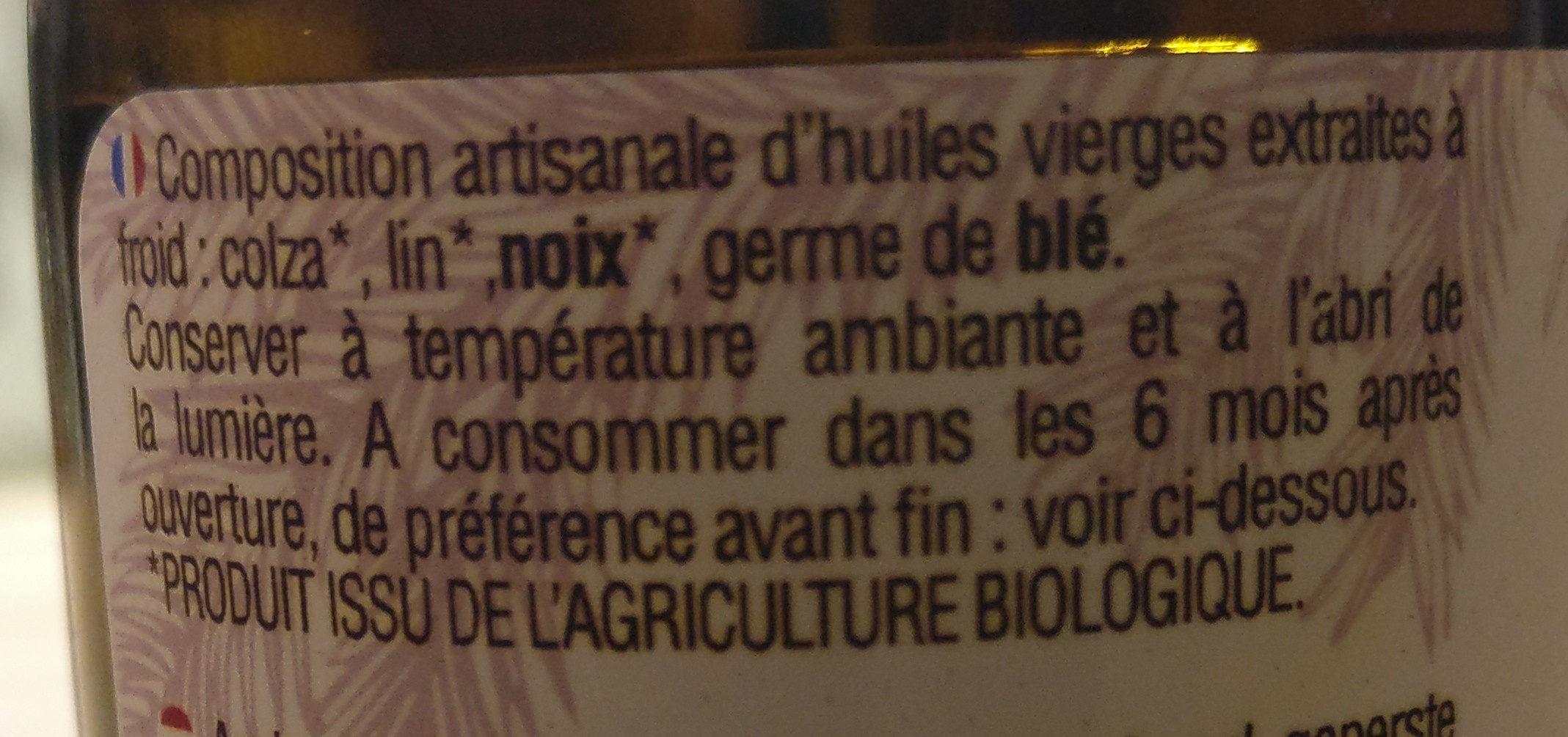 Huile Vierge Omega 3 - Ingrediënten - fr