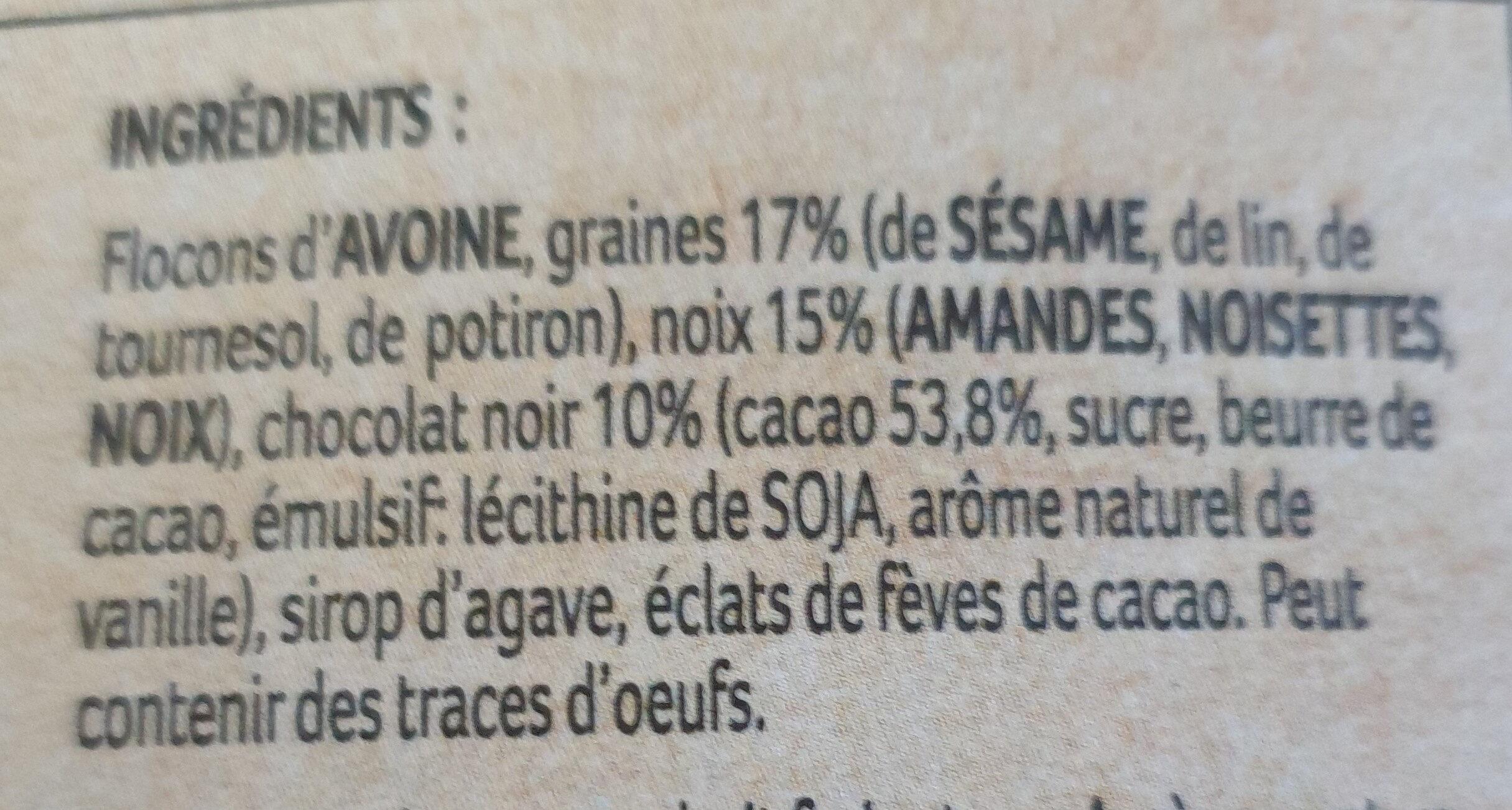 Granola chocolat noix - Ingrediënten - fr