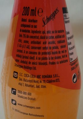 Schweppes Mandarin - Ingredients