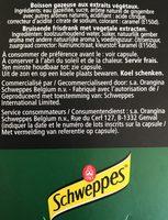 Schweppes Prem. Tonic Ginger Ale 20 CL Fles - Ingrédients - fr