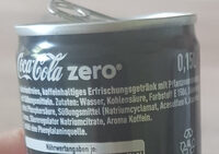Coca Cola Zero - Ingredients