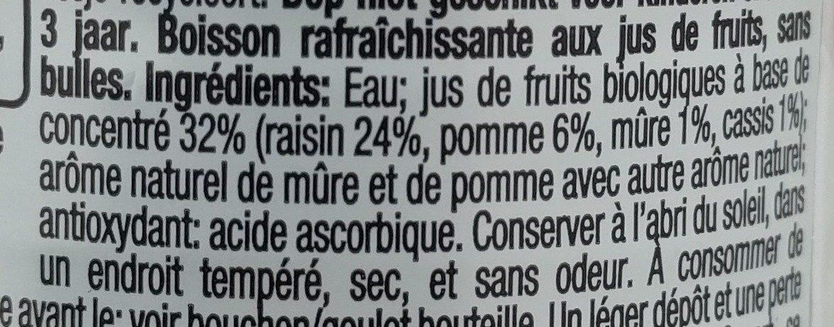 Honest kids bio Fruits rouges - Ingrediënten - fr