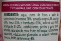 Coco Genial Frutas del Bosque AdeS - Ingredientes