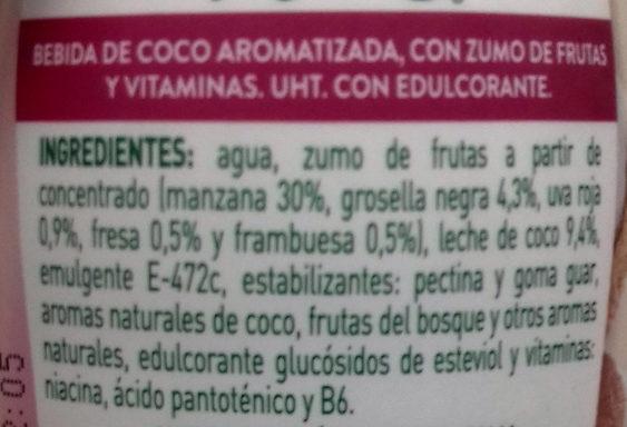 Coco genial: frutas del bosque - Ingredientes