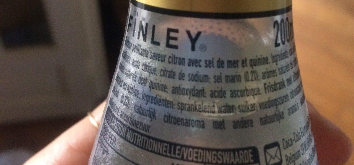 Finley sea salt lemon tonic - Ingrédients