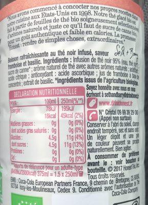 Thé glacé bio - Ingrédients - fr