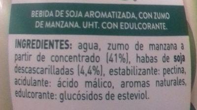 Soja Maravillosa Manzana AdeS - Ingredientes