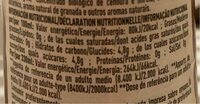 "Honest ""Pomegranate & blueberry"" - Nutrition facts - es"